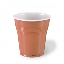 Vasos de Plástico PS Vending 166ml Bicolor