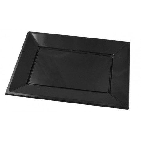 Bandejas de Plástico PS Negras 33cm x 22,5cm