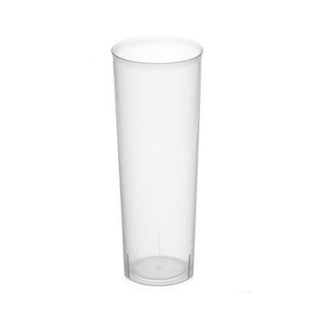 Vasos de Plástico PP Tubo 300ml Inyectado (Caja 500 Uds)