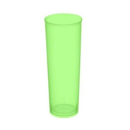 Vasos de Plástico PP Tubo 300ml Inyectado Verde Flúor