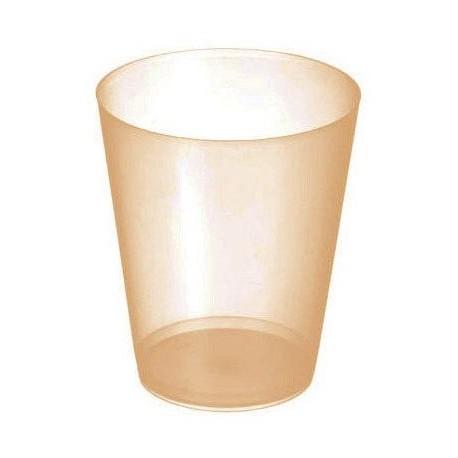Vasos Sidra Plástico PP 480ml Inyectado Naranja Translúcido