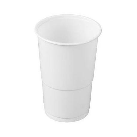 Vasos de Plástico PP 330ml Blancos