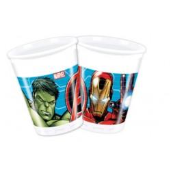 Vaso de Plástico Los Vengadores Marvel 200ml (8 Uds)
