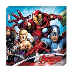 Servilletas de Papel Los Vengadores Marvel 33 x 33 cm (20 Uds)