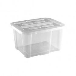 Caja de Plástico con Tapa Transparente 17 Litros