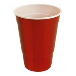 Vasos de Plástico PP Fiesta Bicolor 500ml Rojo