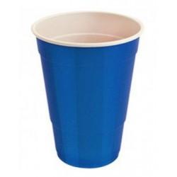 Vasos de Plástico PP Fiesta Bicolor 500ml Azul