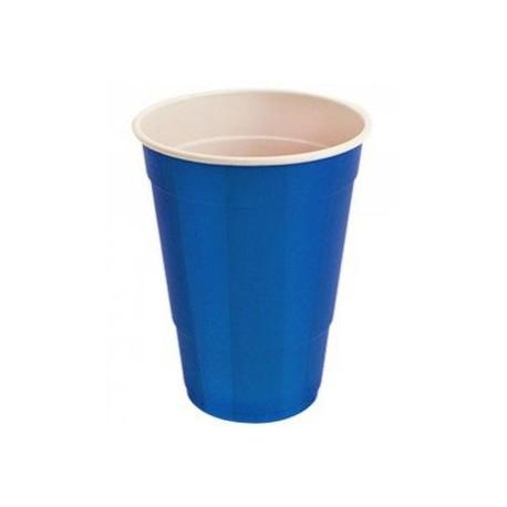 Vasos de Plástico PP Fiesta Bicolor 500 cc Azul