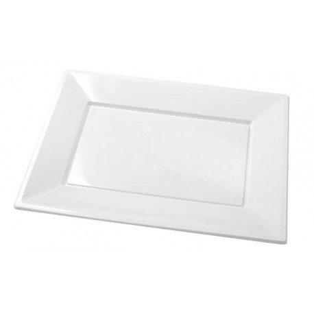 Bandejas de Plástico PS Blancas 33cm x 22,5cm