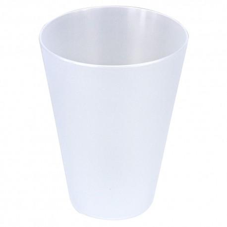 Vasos de Plástico Duro PP Cónico Reutilizables 430ml