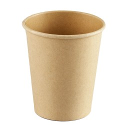 Vasos Biodegradables de Cartón y PLA 8Oz/240ml Ø8cm