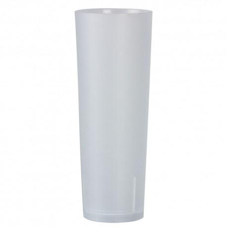 Vasos de Plástico Duro PP Tubo Reutilizables 330ml