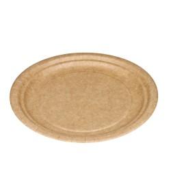 Platos Biodegradables de Cartón Kraft 18cm