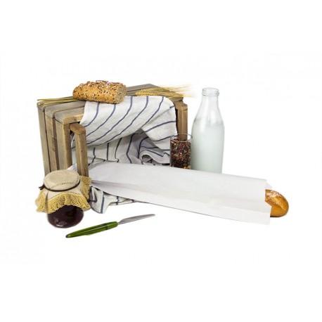 Bolsas de Papel Blancas 12+6x50cm 40gr