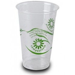 Vasos Biodegradables PLA 330ml Impresos
