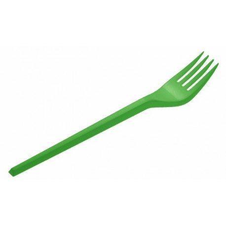 Tenedores de Plástico PS Verdes 16,5cm
