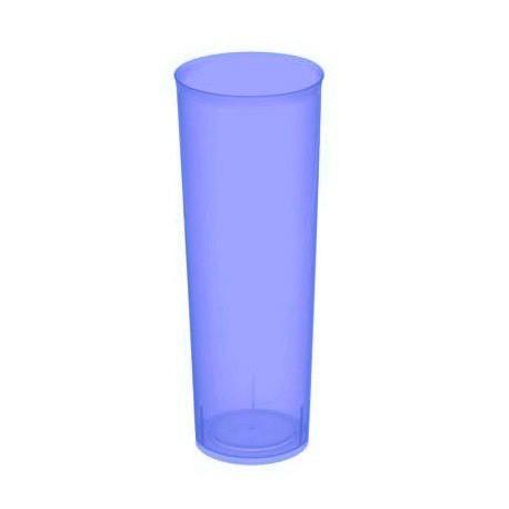 Vasos de Plástico PP Tubo 300ml Inyectado Lila Flúor