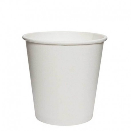 Vasos Biodegradables de Cartón Blanco 4Oz/120ml Ø6,1cm