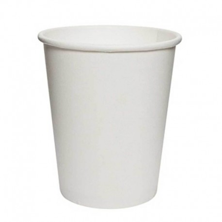 Vasos Biodegradables de Cartón Blanco 200ml Ø7,4cm