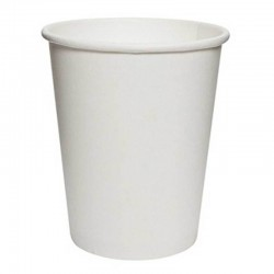 Vasos Biodegradables de Cartón Blanco 250ml