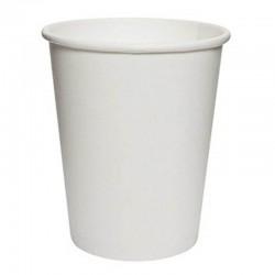 Vasos de Cartón Blanco 250ml Ø8cm