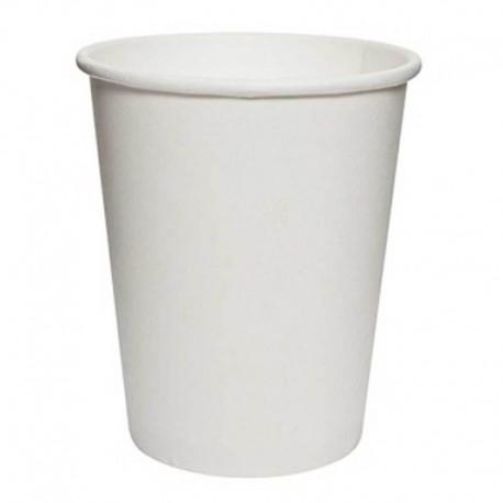 Vasos Biodegradables de Cartón Blanco 250ml