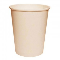 Vasos Biodegradables de Cartón Natural 250ml