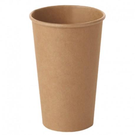 Vasos de Cartón Kraft 16Oz/480ml Ø9cm