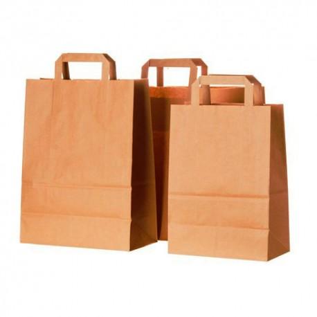 Bolsas de Papel Kraft con Asas 32+16x33