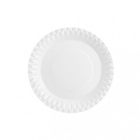 Platos Biodegradables de Cartón Blancos 18cm