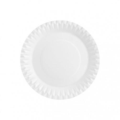Platos Biodegradables de Cartón Blancos 20cm