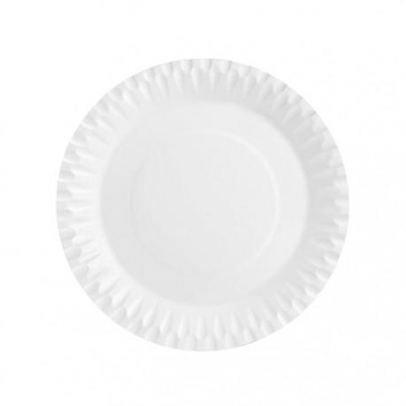 Platos Biodegradables de Cartón Blancos 23cm