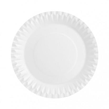 Platos Biodegradables de Cartón Blancos 28cm