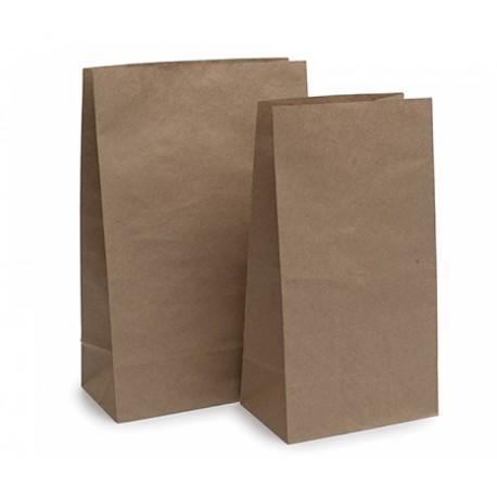 Bolsas de Papel Kraft Americanas 26+14x41cm