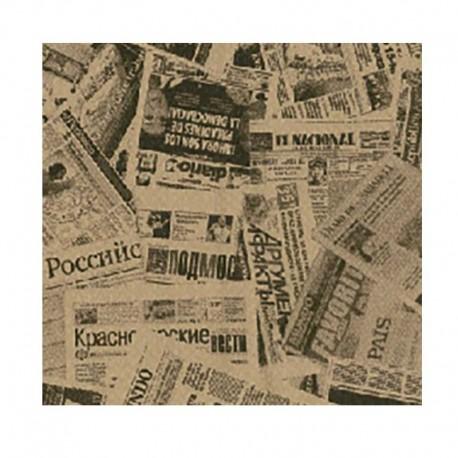 Papel Antigrasa Periódico Kraft 30x30cm