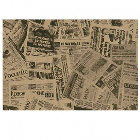 Papel Antigrasa Periódico Kraft 30x38cm