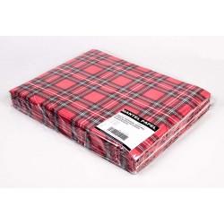Mantel Individual de Papel 30x40cm Escocés Rojo (1.000 Uds)