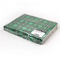 Mantel Individual de Papel 30x40cm Escocés Verde (1.000 Uds)