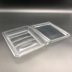 Envases Loncheados con Tapa H27 Grande PET Transparentes