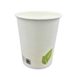 "Vasos de Cartón Blanco ""Natura Hojas"" 12Oz/360ml Ø8,9cm"