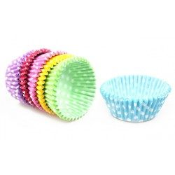Moldes Magdalenas Puntos Colores Surtidos 52 x 30mm (Caja 3600 Uds)