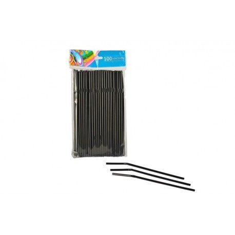 Cañas Flexibles Negras Ø5mm x 21cm