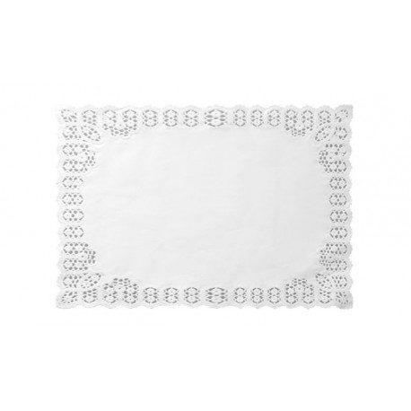 Blondas de Papel Rectangulares 34 x 41cm Blancas (Caja 2.500 Uds)