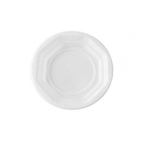 Platos de Plástico PS Blancos 14cm