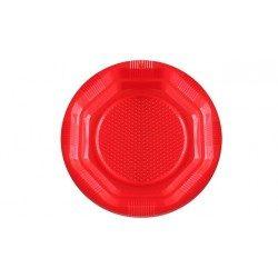 Platos de Plástico PS Rojos 14cm