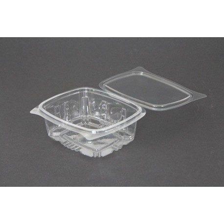 Envases con Tapa Plástico PET 500cc Transparentes