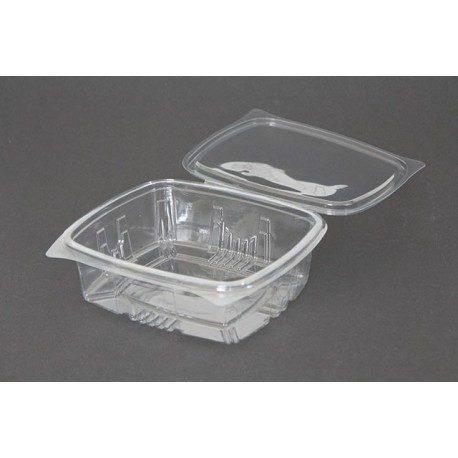 Envases con Tapa Plástico PET 750cc Transparentes