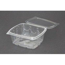 Envases con Tapa Plástico PET 1000cc Transparentes
