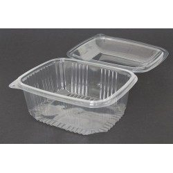 Envases con Tapa Alta Plástico PET 2000cc Transparentes (Caja 200 Uds)