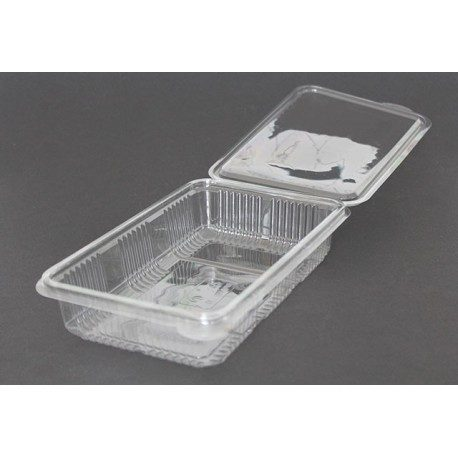 Envases Loncheados con Tapa H40 PET Transparentes (Caja 400 Uds)